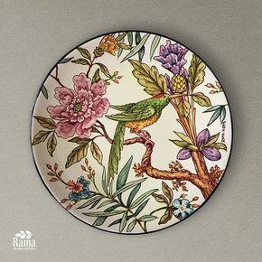 #plates #paintedplate #decorativeplate #birds #ceramics #decor #design #home #homedecor #painting #tropical #colorful #ceramica #ceramicasevillana #diseño #colorido #platospintados