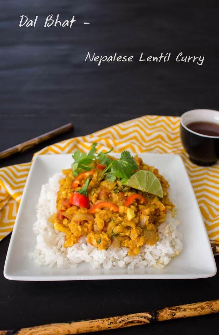 Dal Bhat (#Vegan Lentil Curry)