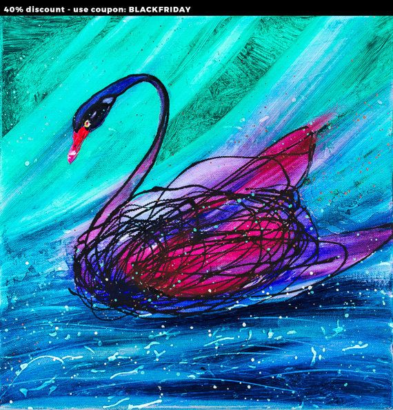 Check out this item in my Etsy shop https://www.etsy.com/listing/232710872/black-swan-animal-bird-12-original