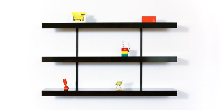Black shelving system with adjustable black shelf fixings. Keep it simple and use our black shelving system to bring simple made to measure shelving into your space. Perfect for any modern home, office or retail space. Visit our website for free planning and design advice.