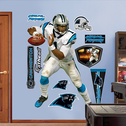 Cam Newton, Carolina Panthers (I wonder if the hubby would mind if  I did this to our living room haha)