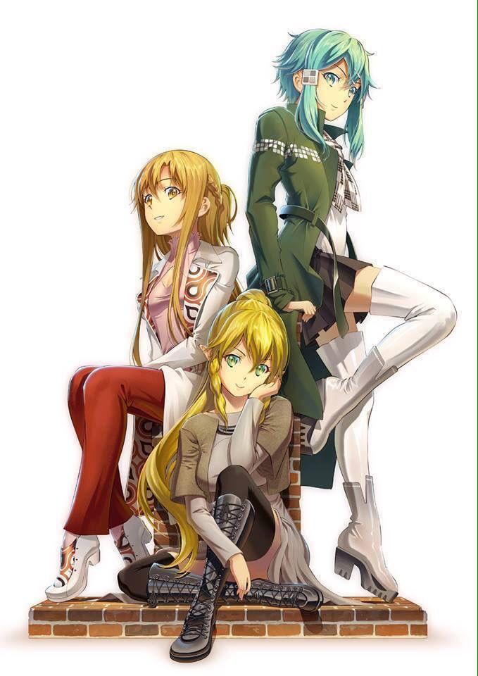 Girls || Sword Art Online || Yuuki Asuna, Asada Shino, Kirigaya Suguha