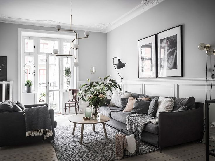 Living room in Cosy Swedish apartment