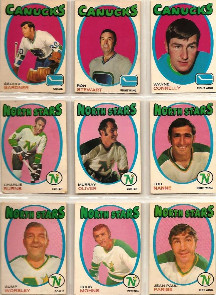 235-243 George Gardner, Ron Stewart, Wayne Connelly, Charlie Burns, Murray Oliver, Lou Nanne, Gump Worsley, Doug Mohns, Jean-Paul Parise