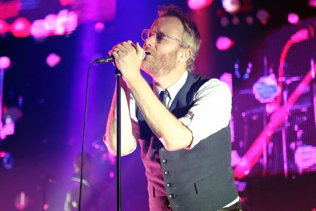 Matt Berninger of The National on stage at London's Roundhouse ~~ June 26, 2013