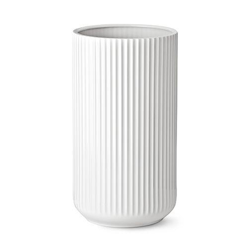 Our 35 cm original Lyngby vase in white porcelain.