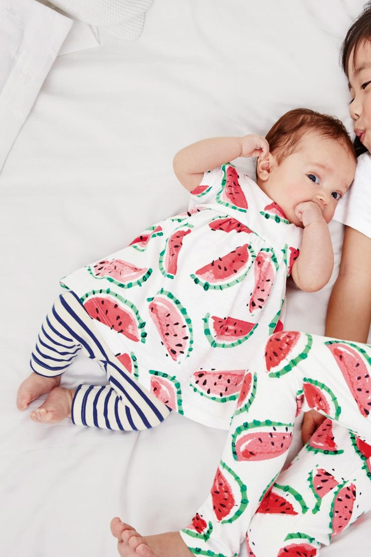 Buy White & Coral Watermelon Print Tunic (0mths-2yrs) from the Next UK online shop