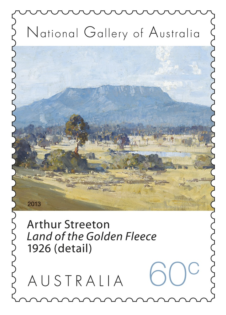 Arthur Streeton on our Landscape Stamps. Australian art - Land of the Golden Fleece, The Grampians, Victoria.