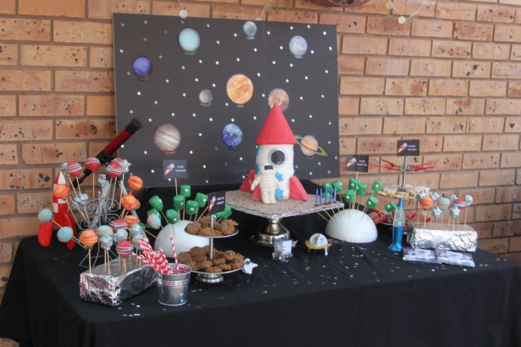 Space/Rocket Ship/Astronaut Party. My little boy turned 5 and wanted a rocket ship party.  This is what we came up with.
