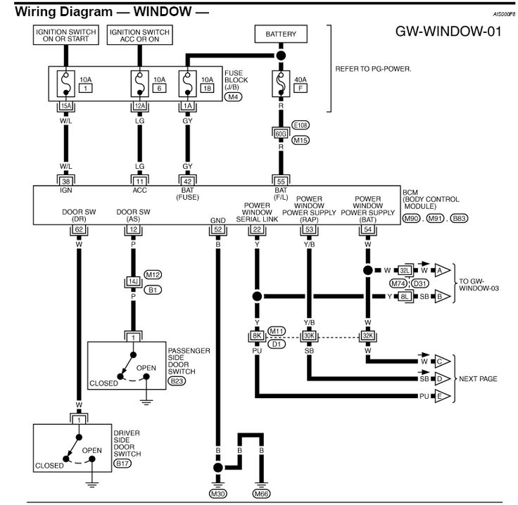 honda power window wiring diagram