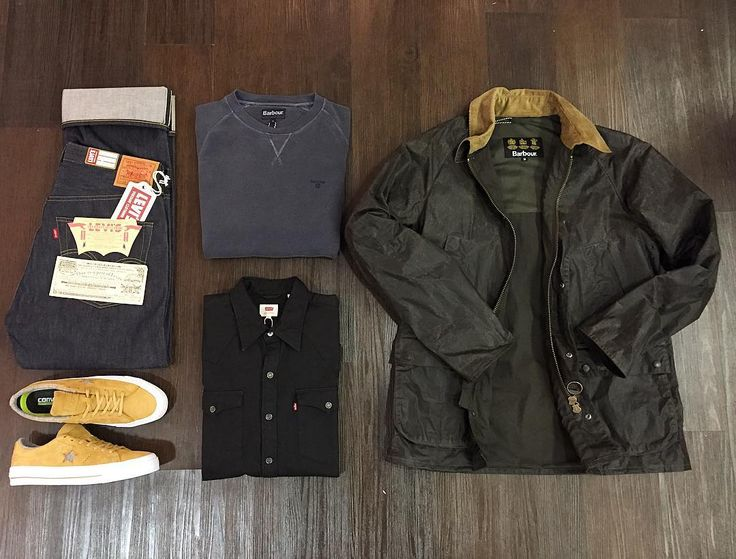 Barbour 'Truss' dry wax jacket: 209 Levi's vintage 1947 501: 180 Barbour garment dyed sweat: 70 Levi's black western shirt: 65 Converse One Star: 65 All available online and in store now.  #barbour #levis #levisvintageclothing #converse #onestar #denim #selvedgedenim #selvedge #LVC #garmentdyed #garment #wax #jacket #outerwear #outfitgrid #outfitoftheday #menswear #mensfashion #mensstyle #styleoftheday #ss17 #philipbrownemenswear