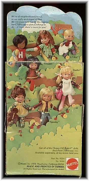 Honey Hill Bunch dolls - my sister had these - it was a special occasion when we were allowed to play with them.