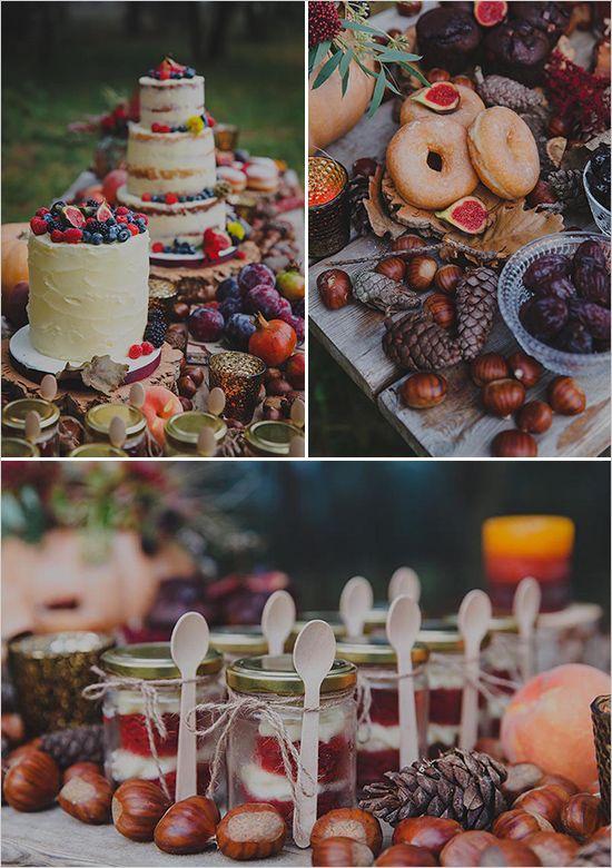 Autumn Boho Wedding Inspiration | Cakes & Dessert Tables | Fall wedding desserts, Boho wedding ...