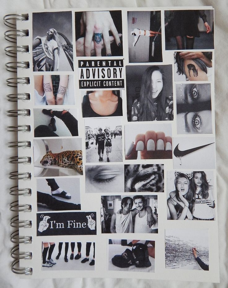 Make a journal that looks like pinterest. I am definitely gonna do this.