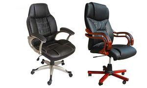 Groupon - Leren bureaustoelen vanaf € 89,99 (tot 52% korting) . Groupon deal price: 89,99€