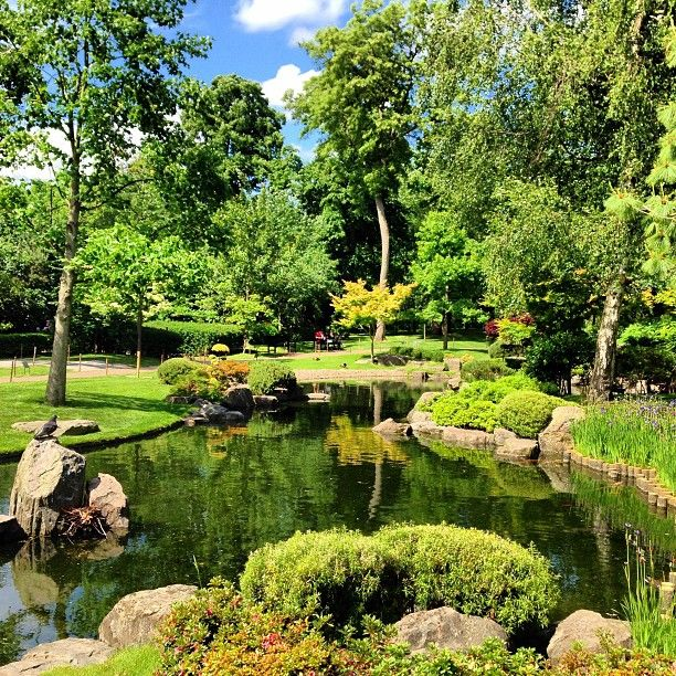 Holland Park in Kensington, Greater London - Situated on 22 hectares in the Royal Borough of Kensington and Chelsea, it is considered one of the most romantic and peaceful parks in London.
