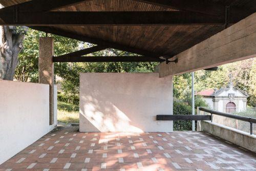 1956-1960 | Fernando Távora Pavilhão de ténis e arranjos exteriores na Quinta da Conceição, Matosinhos