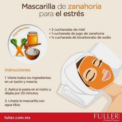 Mascarilla de zanahoria para el estrés - Infografías y Remedios