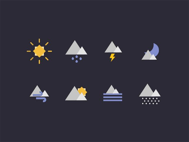 Geometric weather icons