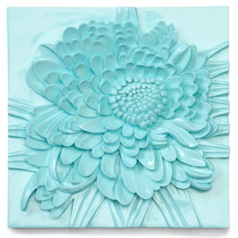 Chrysanthemum Plaque - Aquamarine from Z Gallerie.Can't decide if I like it or not?? Love the color for spring! #Springintothedream