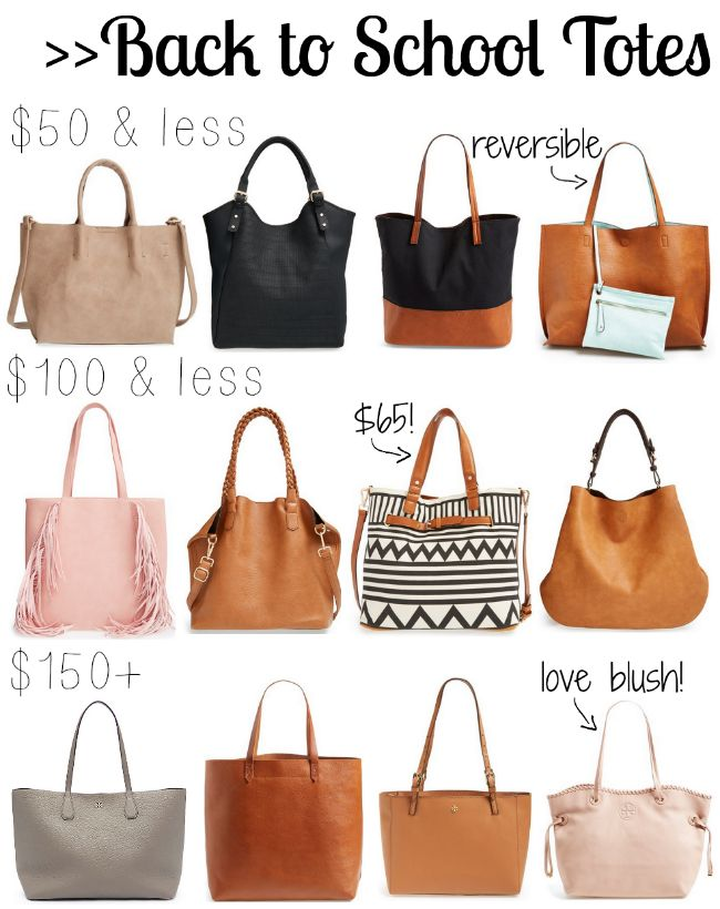 Back to School Totes [for any budget | School tote
