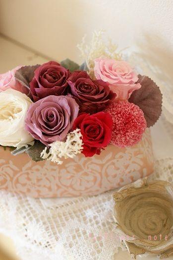 『好き?大人っぽいピンクアレンジ』 http://ameblo.jp/flower-note/entry-11129259919.html