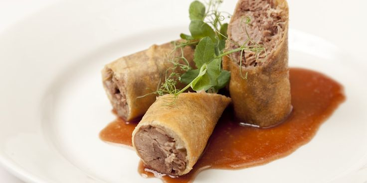 Crispy Duck Spring Rolls with BBQ Sauce Recipe - Great British Chefs