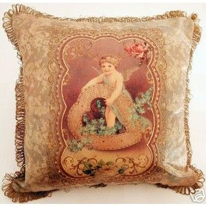 Victorian Heart Throw Pillows : victorian pillows decorative home decor throw pillows michal negrin victorian cherub heart ...
