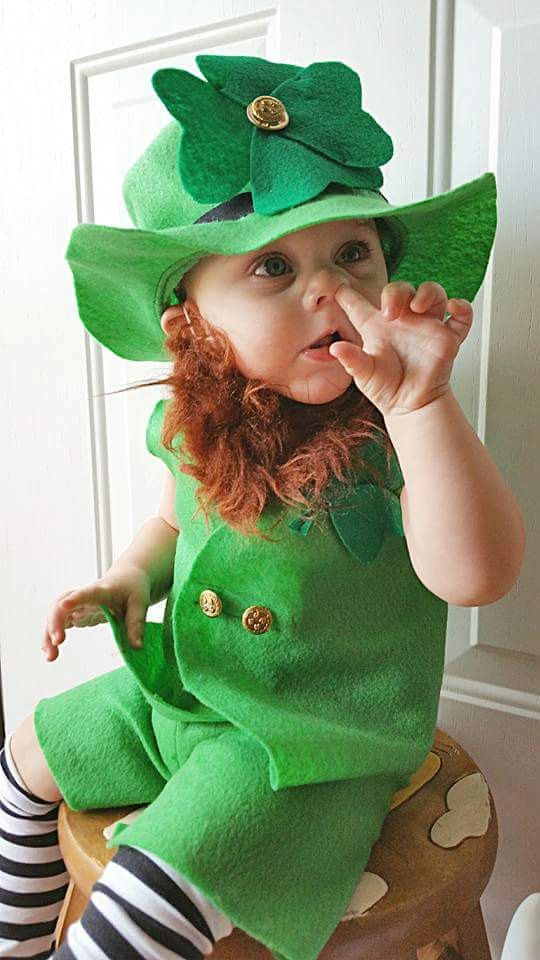 Baby Leprechaun Costume Leprechaun Photo Prop/1st Birthday St. Patricks Day Lucky Irish Little Leprechaun Outfit/MYSWEETCHICKAPEA (89.99 USD) by MYSWEETCHICKAPEA