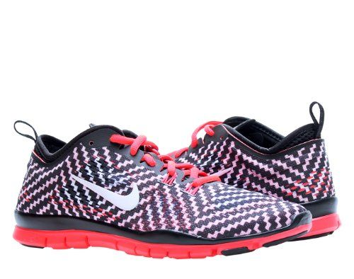 nike free 5.0 tr fit 4 - womens black and white flannel