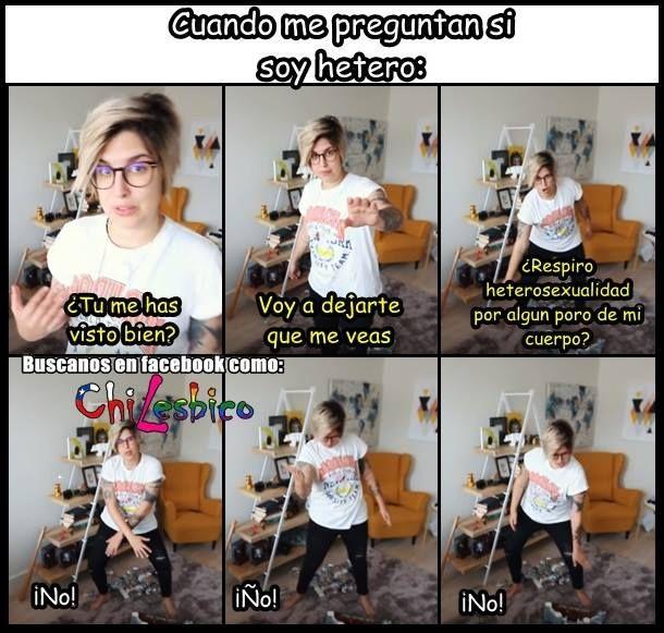 No hay ninguna heterosexualidad en el cuerpo de Melo #lesbianas #humor #lesbianashumor #lesbianaschile #lesbianasamor #Chilesbico #yellowmellow