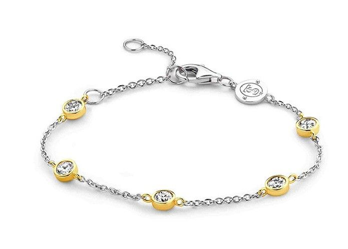 Ti Sento Sterling Silver Gilded Bracelet @ Campbell Jewellers Donnybrook & Citywest  http://campbelljewellers.com/jewellery/ti-sento-campbell-jewellers/ti-sento-bracelets-bangles/ti-sento-sterling-silver-gilded-bracelet.html