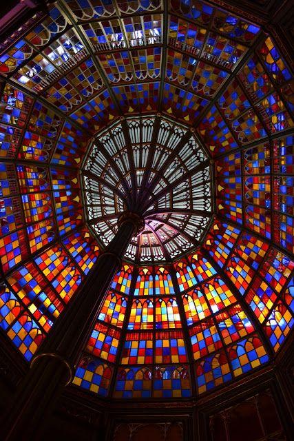 Витражный купол в Старом Капитолии Луизианы, Батон Руж