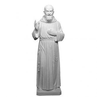 Padre Pio 175 cm vetroresina bianca | vendita online su HOLYART