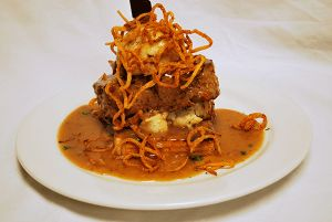 "Appalachian Brewing Co. MILE HIGH MEATLOAF Our homemade Black Angus meatloaf piled high on Texas toast. Topped with creamy garlic mashed potatoes, ""Jolly Scot""  gravy and house made crispy fried onion straws…15 Suggested beer pairing: ""Jolly Scot"" Scottish Style Ale #MeatLoaf"