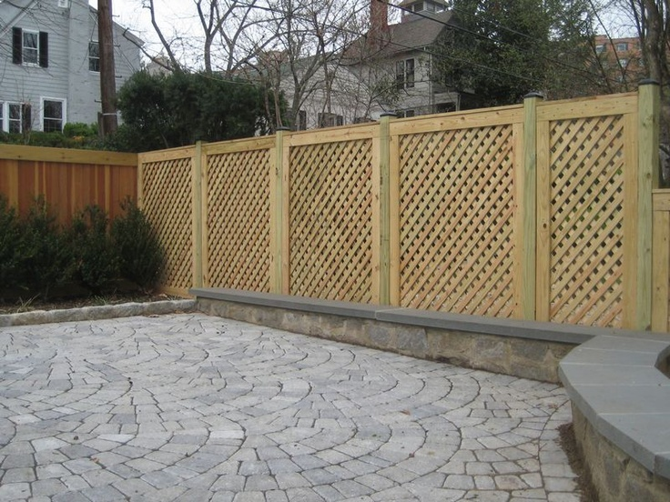 185 best images about fences and pergolas on pinterest for Garage fence