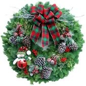 Snowbound Winter Wreath... Click on the link to visit and support Samantha's Dance Education.  Beautiful fresh Christmas Wreaths and more delivered to your door:-) http://www.lynchcreekwreaths.com/?209[acode]=ADC-Barrett#