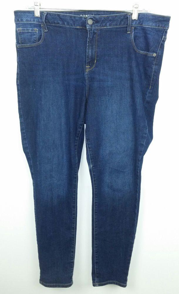 9ca4d465cec Old Navy Women s Size 18 Regular Jeans Rockstar Mid Rise Medium Blue Skinny   1  OldNavy  SlimSkinny