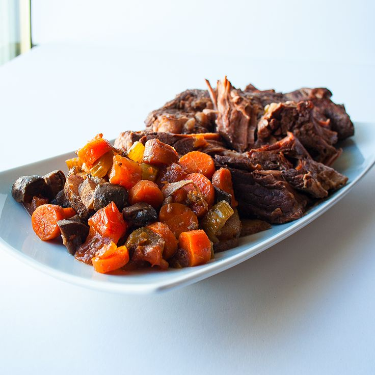 One of my all time favorite easy comfort food meals, this Slow Cooker Yankee Pot Roast recipe is fall-apart good! Save the broth to make a rich au jus!