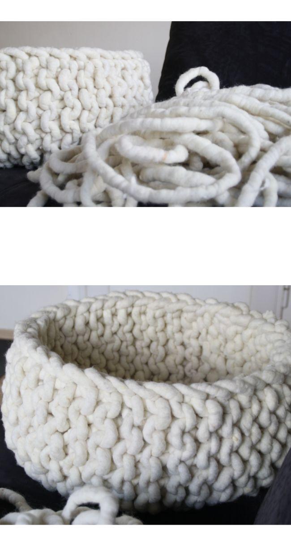 Die Wollschnur ist mega-dick und ergibt ganz schnell einen super-dicken und flauschigen Teppich. Für alle die, die es etwas wärmer und kuscheliger haben möchten, das ideale Material. Die Wolle ist locker ausgesponnen und hat einen Kern aus Juteband.