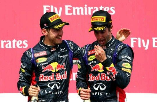 DANIEL FREAKIN' RICCIARDO!!!! Got his first win here at the Canadian GP with Seb coming in a solid 3rd! Way to go boys!!
