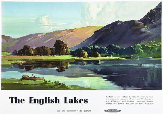 TU22 Vintage 1950's English Lakes Lake District Travel Railway Poster A3 A2 | eBay