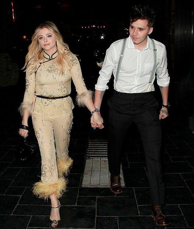 Chloemoretz Wearing Prada Out With Boyfriend Brooklynbeckham For Her 21st Birthday Celebration Brooklyn Beckham Insta Fashion Chloe Moretz