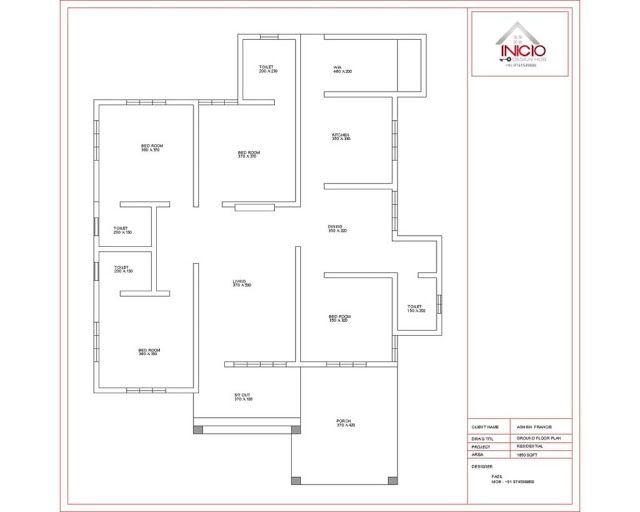 Single Floor 4 Bedroom House Plans Kerala 4 Bedroom Kerala House Plans And Elevations Late In 2020 Single Floor House Design Home Design Floor Plans Free House Plans