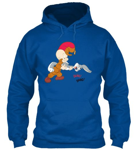 Bugs Bunny And Elmer Fudd  Royal Sweatshirt Front