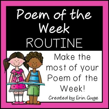 In this FREE easy-to-use one-page reference, specific concepts and prompts are listed under each day of the week to ensure your time spent on your Poem of the Week is maximized and efficient, as you hit upon all the beginning reading concepts! Each day of the week contains a different focus (print concepts, phonemic awareness and phonics, word focus, comprehension, and fluency).