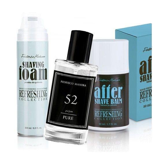 Akciós férfi illatszett kapható nálunk! Tartalma: FM52 Parfüm,Borotvahab,After shave! Látogasson el, weboldalunkra: https://webaruhaz.illattenger.hu/fm-group-parfum-ferfi-90/akcios-kifuto-illataink-222/fm52-parfumborotvahabafter-shave-szettben-1197
