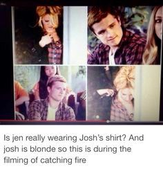 Well, I'm not entirely sure if that is Jen because I've just seen her face too many times to be normal, so I kind of memorized her features and that doesn't really look like her but who knows? It does make sense though, because that happened multiple times, with Jen wearing the same shirt as Josh.