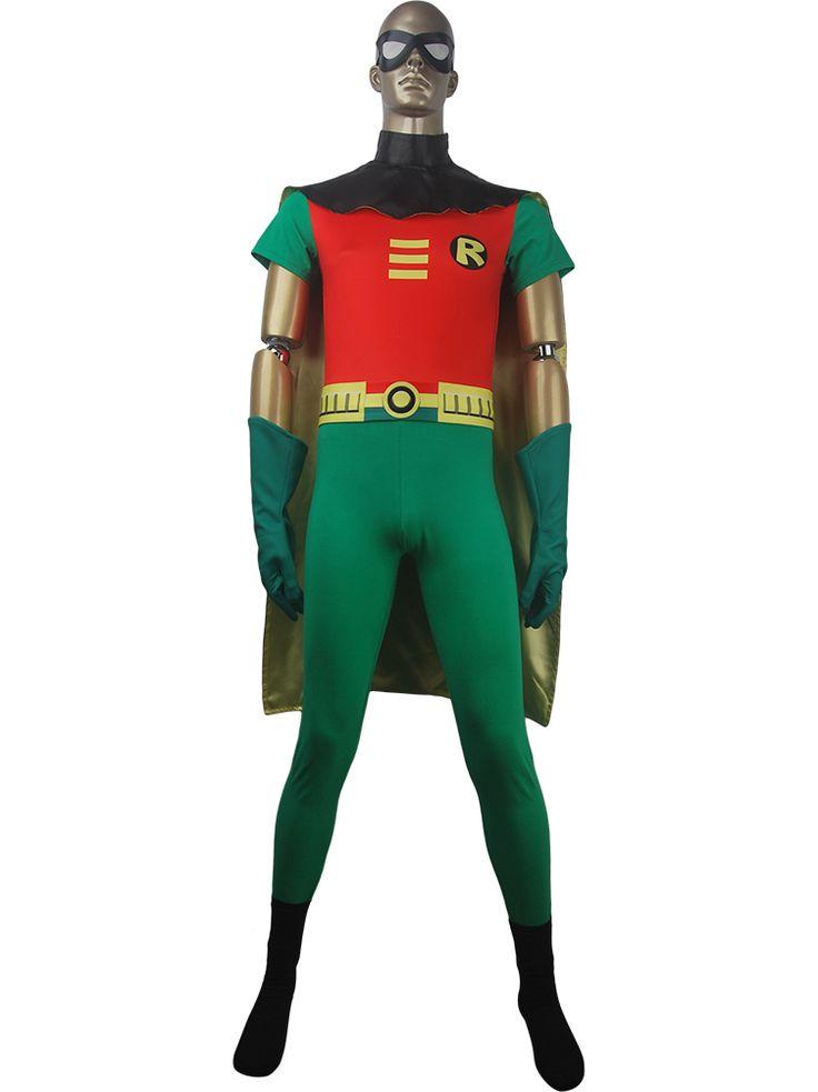 Unisex DC Comics Teen Titans Go! superhero Robin suit cosplay halloween costume top cape gloves boots eye-mask xmas birthday gift toys