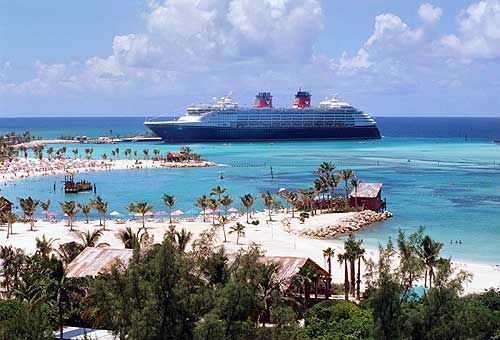 Castaway Cay: which, since it's Disney's private island, means a Disney cruise too :)
